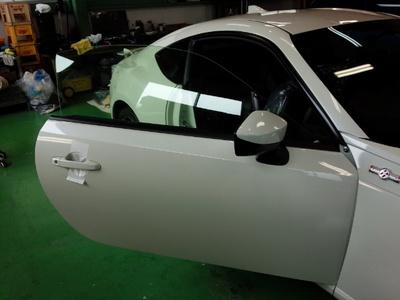 東京都羽村市Rmc ZN6 86 GT LTD 運転席・助手席 FGR500 トウメイ断熱フィルム施工