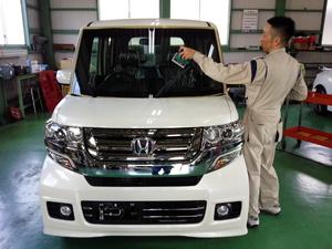 青梅市K様 新車 JF1 Nbox カスタム G'ZOXハイパービューウインドウ撥水コーティング施工