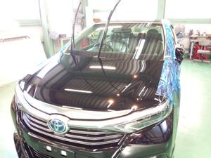 あきる野市T様 新車 AZK10 SAI G'ZOXハイパービューウインドウ撥水コーティング施工