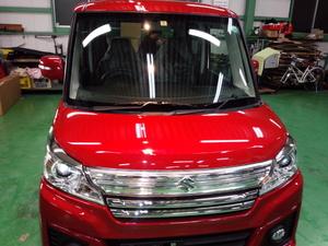 羽村市A様 新車 MK42S スペーシア カスタム RMC ガラスコーティング施工