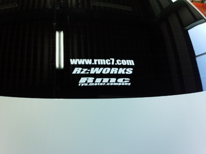 Rmc NEWステッカー!Rz:WORKS Rmcこだわりチューン車両専用ステッカーです