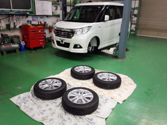 羽村市H様 弊社販売車 新車 MA36S ソリオHYBRID G'ZOXホイールコーティング施工