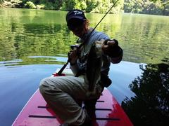初!津久井湖バス釣り 本当は亀山湖に行きたかったけどNBCチャプターを避けて 何とか2本キャッチ