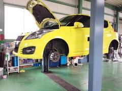 羽村市S様 ZC32S スイフトスポーツ 車検 車検整備 オイル交換 ブレーキ分解・清掃・給油作業