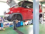 羽村市U様 MR41S ハスラー 法定12ヵ月点検 オイル交換 ブレーキ分解・清掃・給油・調整作業