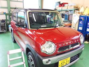 羽村市U様 MR41S ハスラー 法定12ヵ月点検 G'ZOXハイパービューを施工しました。