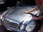青梅市I様 弊社販売車 ベンツ W211 E320 CDI G'ZOX リアルガラスコート施工作業