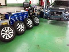 福生市K様 新車 KE2FW CX-5 クリーンディーゼル G'ZOXホイールコーティング施工