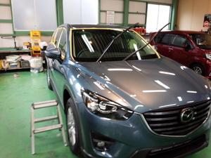 福生市K様 新車 KE2FW CX-5 クリーンディーゼル G'ZOXハイパービューウインドウ撥水コーティング施工