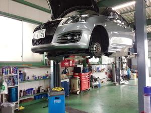 青梅市H様 ZC32S スイフトスポーツ 車検 車検整備作業 エンジンオイル交換 WAKO'S プロステージS