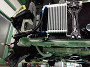 羽村市Rmc VAB WRX STI BLITZ Racing RD オイルクーラーキット取付作業