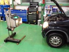 羽村市E様 HN22S Kei 車検整備 オイル交換 ブレーキの分解・清掃・給油作業