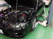 足立区M様 S15 シルビア spec R アライメント調整 ターニングラジアスゲージ&キャンバーキャスターゲージ