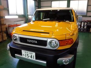 羽村市A様 新車 GSJ15 FJクルーザー Rmcガラスコーティング施工