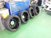 デモカーVAB ADVAN Racing RS-DF Progressive M&RACING HYPER BLACK G'ZOXホイールコーティング施工