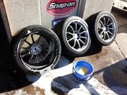 デモカーVAB ADVAN Racing RS-DF Progressive M&RACING HYPER BLACK ホイール洗浄