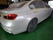 Rmc NEWデモカー BMW F80 M3 LCIモデル G'ZOXリアルガラスコート施工 下地研磨作業