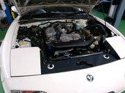 Rmcデモカー3代目NA8Cロードスター制作作業 BP-VEエンジンスワップ Maruha SPL FREEDOM フルコン エアフロレス仕様