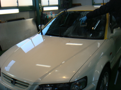 東京都青梅市I様 アコードW 弊社販売車 Rmcガラスコーティング G&#39ZOXハイパービュー 施工