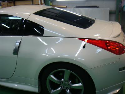 東京都青梅市K様 車 フェアレディZ Z33 カーフィルム施工 シルフィードSC7008 断熱フィルム施工