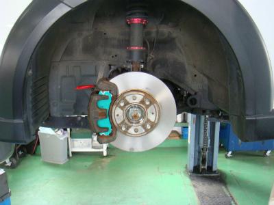 東京都青梅市N様 Z27A コルトVerR ランエボ3 フロントブレーキ移植 キャリパーOH