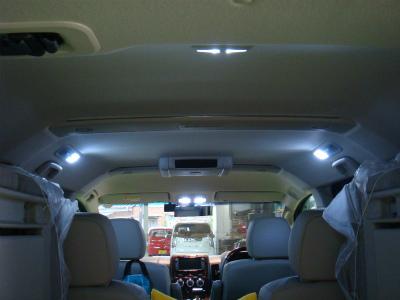 東京都青梅市T様 デリカD5 ロイヤルエクシード クリーンディーゼル 室内灯 LED交換 RG製パワーLED