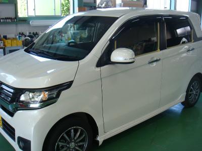 埼玉県入間市H様 新車 NWGN G&#39ZOXハイパービュー ウインドウ撥水コーティング