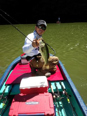 2014.8.19亀山湖 バス釣り 長崎 46.5cm