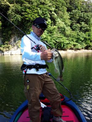 2014.8.19亀山湖 バス釣り 猪川 yamatojr T.N