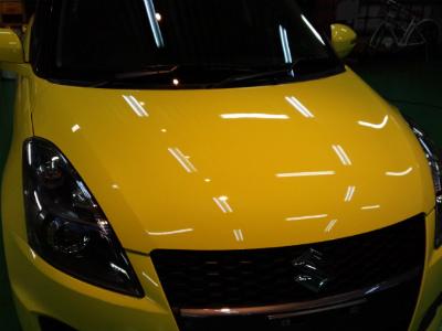 東京都小平市O様 弊社販売車 新車 スイフトスポーツ G&#39ZOX リアルガラスコート 施工