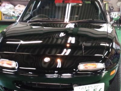 東京都青梅市T様 弊社販売車 NA8C ロードスター G&#39ZOX リアルガラスコート ボディガラスコーティング施工