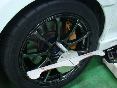 武蔵村山市S様 インプレッサ WRX STI リジカラ 取付 4輪アライメント 測定 調整