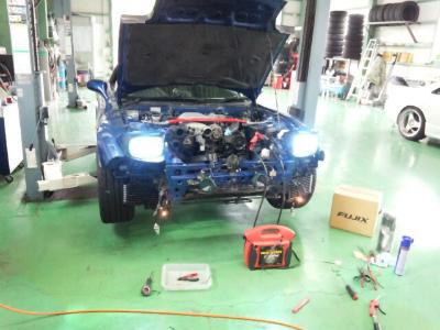 東京都羽村市Rmc RX-7 FD3S HID取付 H4 HI/LO 6500K