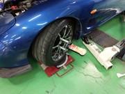 狛江市O様 FD3S RX-7 アライメント測定&調整作業