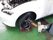 青梅市K様 ND5RC ロードスター TEIN FLEX Z 車高調取付 アライメント測定&調整作業