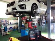 羽村市Rmc VAB WRX STI エンジンオイル交換 MOTUL 300V POWER 5W40 ¥3600-/1L税抜き
