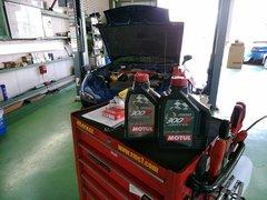 青梅市Y様 FD3S RX-7 オイル交換 MOTUL 300V COMPETITION 15W50 ¥3600-/1L