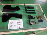 デモカーVAB WRX STI CSマルシェ 3Dデフレクター 取付 ブレーキ冷却 ブレーキダクト