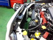 デモカーVAB WRX STI DRL DAIWA RACING LABO 超高性能アルミラジエーター取付作業