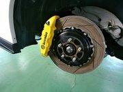 デモカーVAB WRX STI brembo GT KIT MONOBLOCK F/6POT 355mm/2P R/4POT 345mm/2P Luvix 特注ブレーキパッド交換