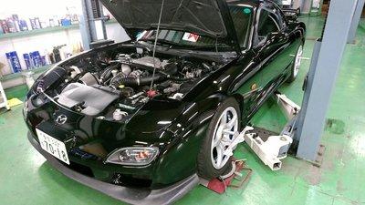 府中市N様 弊社販売車FD3S RX-7 TEIN MONO SPORT 車高調取付後 アライメント測定&調整作業