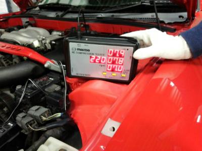 千葉県流山市Y様 弊社販売車 H7 RX-7 FD3S 3型 エンジンコンプレッション測定