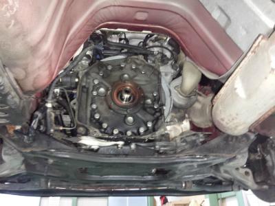 千葉県流山市Y様 弊社販売車 H7 RX-7 FD3S 3型 エンジンオイル漏れ修理 オイルシール交換