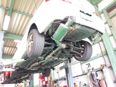 東京都八王子市K様 S15 シルビア スペックR FGK レガリスRレボリューション 車検対応マフラー 取付