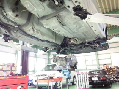 東京都小平市K様 RX-7 FD3S エンジンオイル漏れ修理 ステーショナリーギアOリング リアO/S 交換