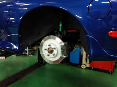 東京都羽村市Rmc RX-7 FD3S プロジェクトミュー PMU HC+ 前後新品 ブレーキパッド取付